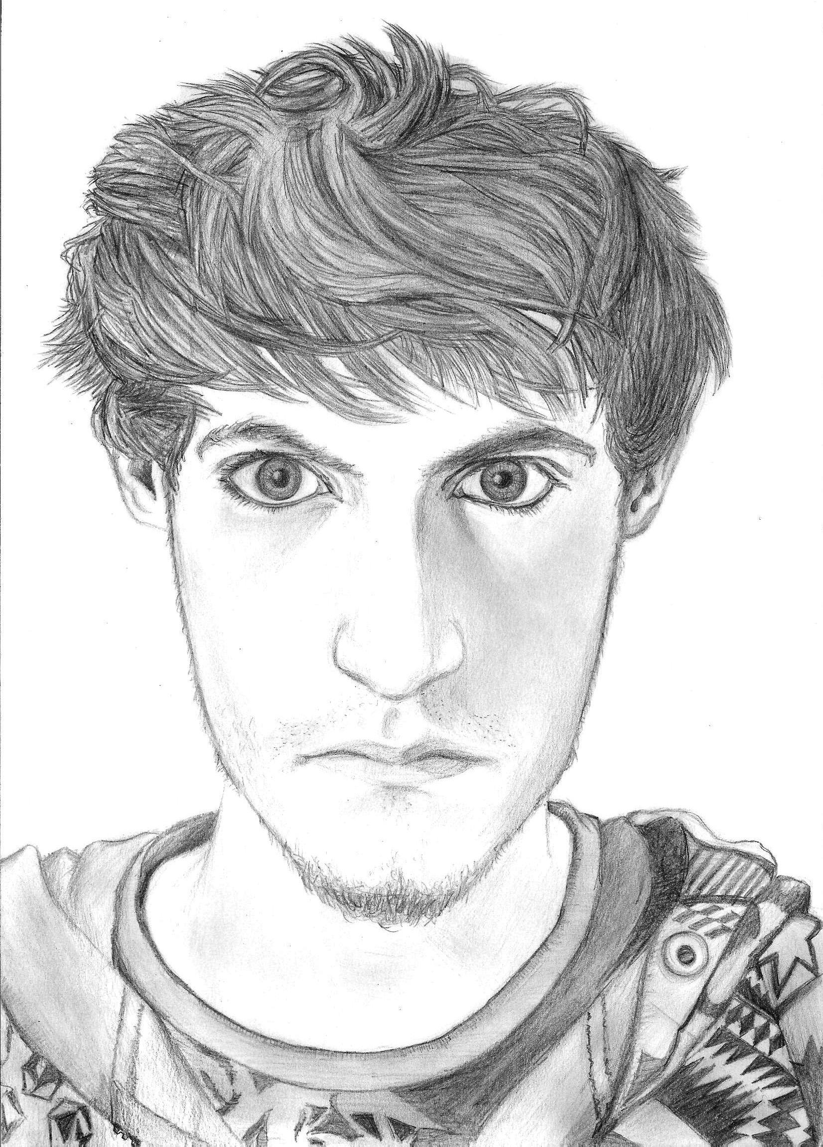 Drawing 'Self portrait'